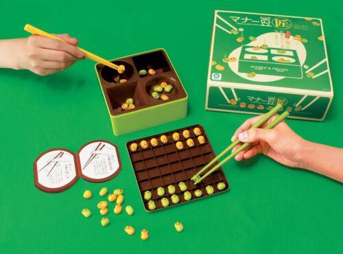 New Eyeup Manner Beans Takumi Chopsticks Eating Practice Kit Game Toy Japan