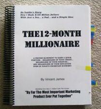 James Vincents Original 12 Month Millionaire Copywriting Direct Mail