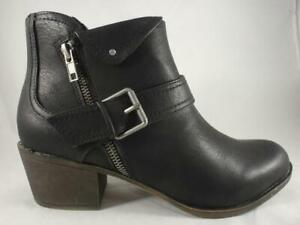 Ankle Boots Black Booties Zip Up