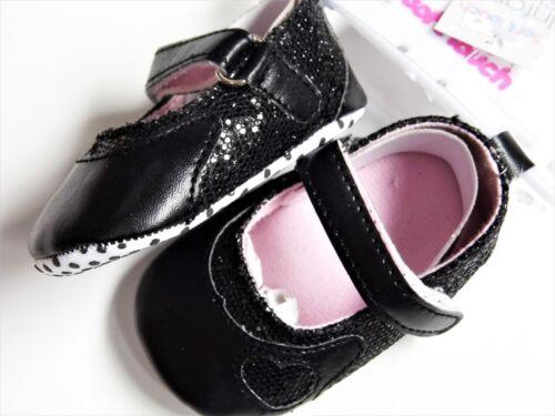 Baby Girls paillettes//Heart Pattern Pram shoes