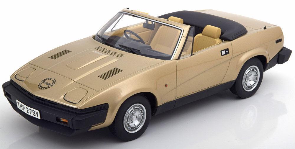 1980 Triumph TR7 Dhc Rhd Doré Métal par Bos Modèles le de 504 1 18 Échelle Neuf