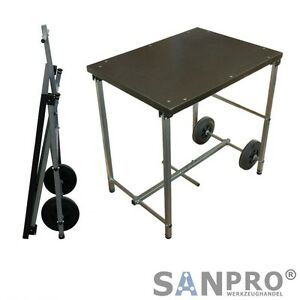 sanpro mobile klappwerkbank mit rollen titan r1 785x800x585 mm werkbank klappbar ebay. Black Bedroom Furniture Sets. Home Design Ideas
