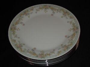 6-Noritake-China-2932-SPRING-FIELD-10-1-2-034-Dinner-Plates-Japan