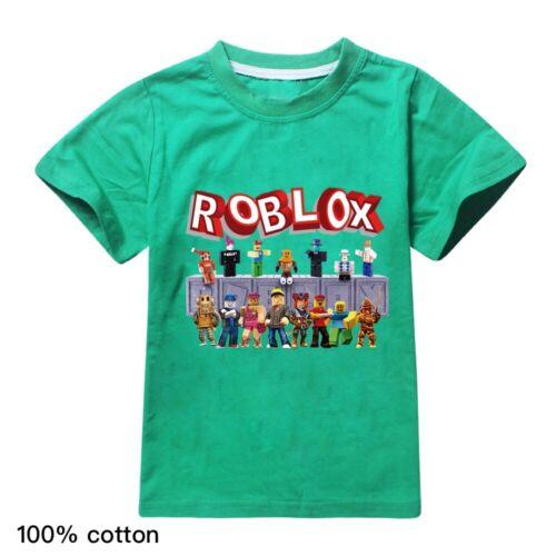 New Kids 100/% Cotton ROBLOX T-Shirt Boys Girls Casual Short Sleeve Tee Tops