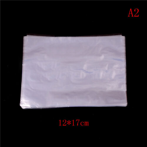 100Pcs Clear PVC Heat Shrink Wrap Bag Film Seal Packing Gift Bags 3 Size HIJ