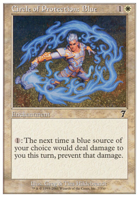 MTG Magic - (C) 7th Edition - Circle of Protection: Blue - SP