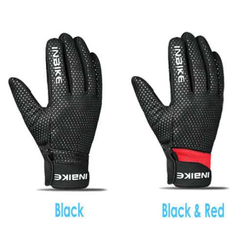 MTB Road Bike Winter Thermal Fleece Gloves Windproof Full Finger Touch Screen