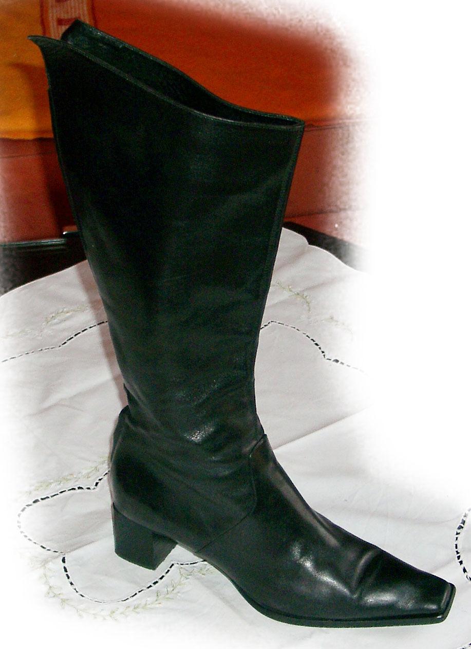 Sergio Rossi ~ Exclusive botas de cuero ~ /2 ~ negro ~