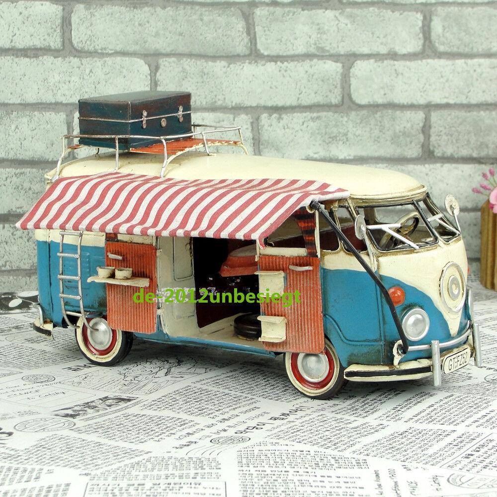 Nuevo Retro VW Volkswagen tipo 1 T1 Samba Bus Camper Touring Car Model