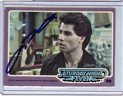 Movies Frugal John Travolta Signed Autographed Trading Card Saturday Night Fever 65 Jsa U99020 Fancy Colours Autographs-original