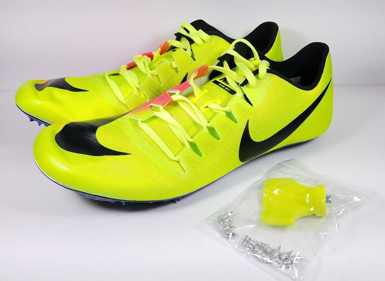Nike Size 12 Running Spikes Zoom JA Fly 3 OC Rio Volt Pink Black 882032-999 Mens