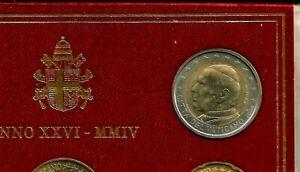 1pièce rare  2€ 2004 VATICAN PAPE JEAN-PAUL II PIECE SORTI DU COFFRET NEUVE UNC