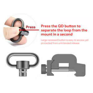 Quick release QD mount sling swivel for seperating alloy buckle