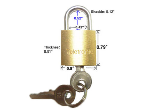 """LOT OF 12 Small Brass Padlock 0.79/"""" Mini Tiny Locker Box Jewelry New 20MM"""