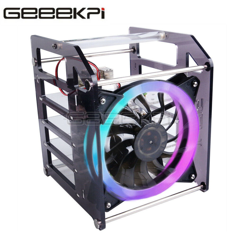 In Stock! 52Pi Rack Tower and Acrylic case for Raspberry Pi 4B with huge fan