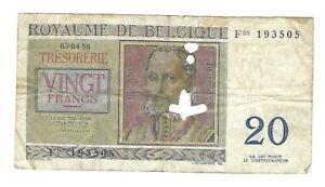BILLET-BELGE-20-francs-le-03-04-1956-signature-B-portrait-R-de-lassus-20181