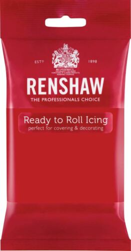 Rouge Coquelicot RENSHAW Ready To Roll Icing 250 G paquets