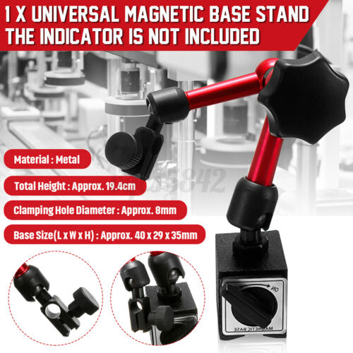 Universal Mini Flexible Magnetic Metal Base Holder Stand Dial Test Indicator US