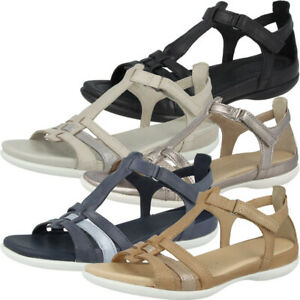 Details zu Ecco Flash Damen Sandale Women Leder Schuhe Sandaletten Gladiatorsandalen 240873
