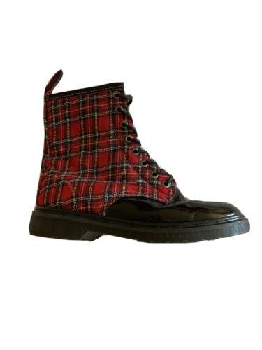 Demonia US 12 PLaid Combat Style Boots, Women Vega