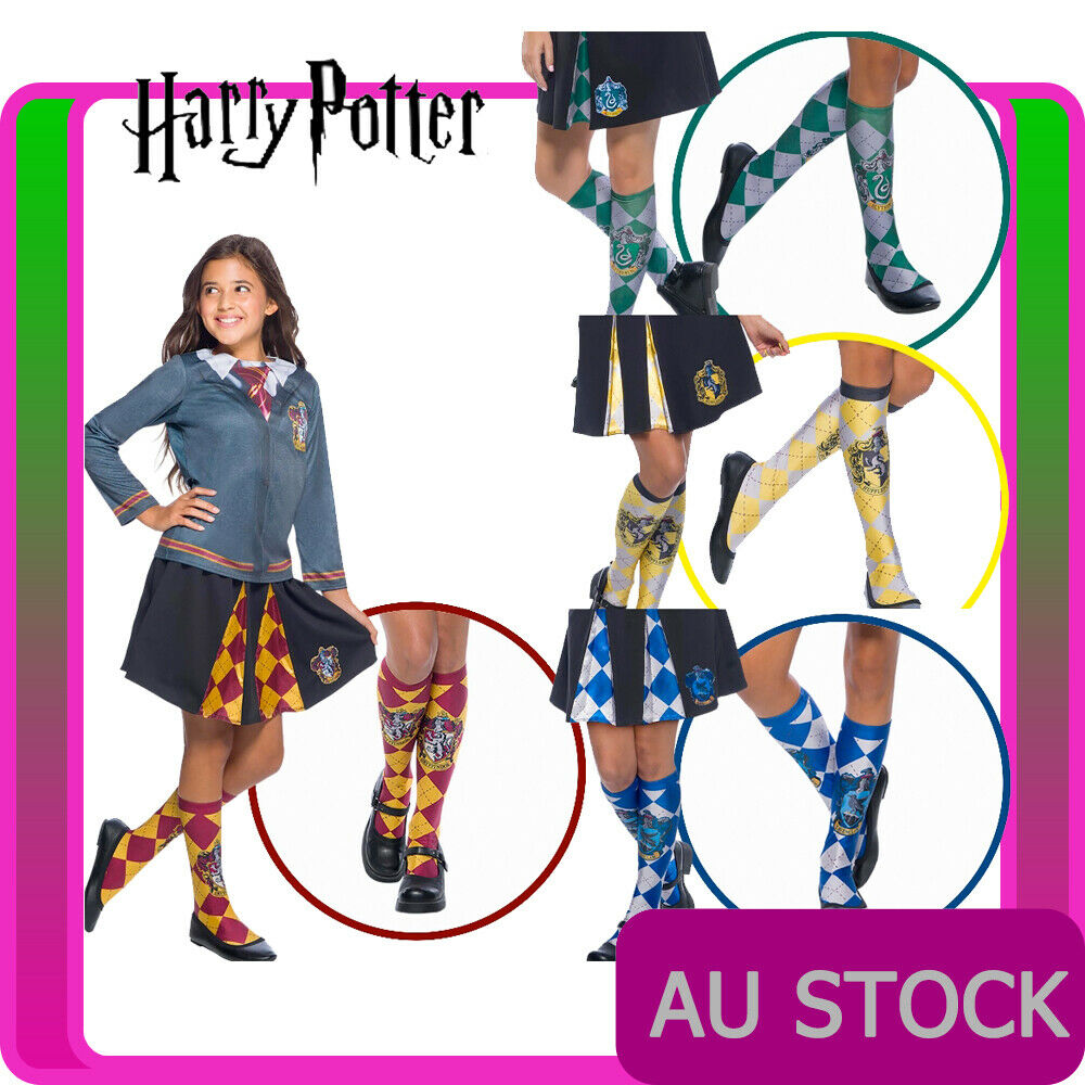 Harry Potter 4 House Socks Unisex Child Book Week Kids Costume Accessory