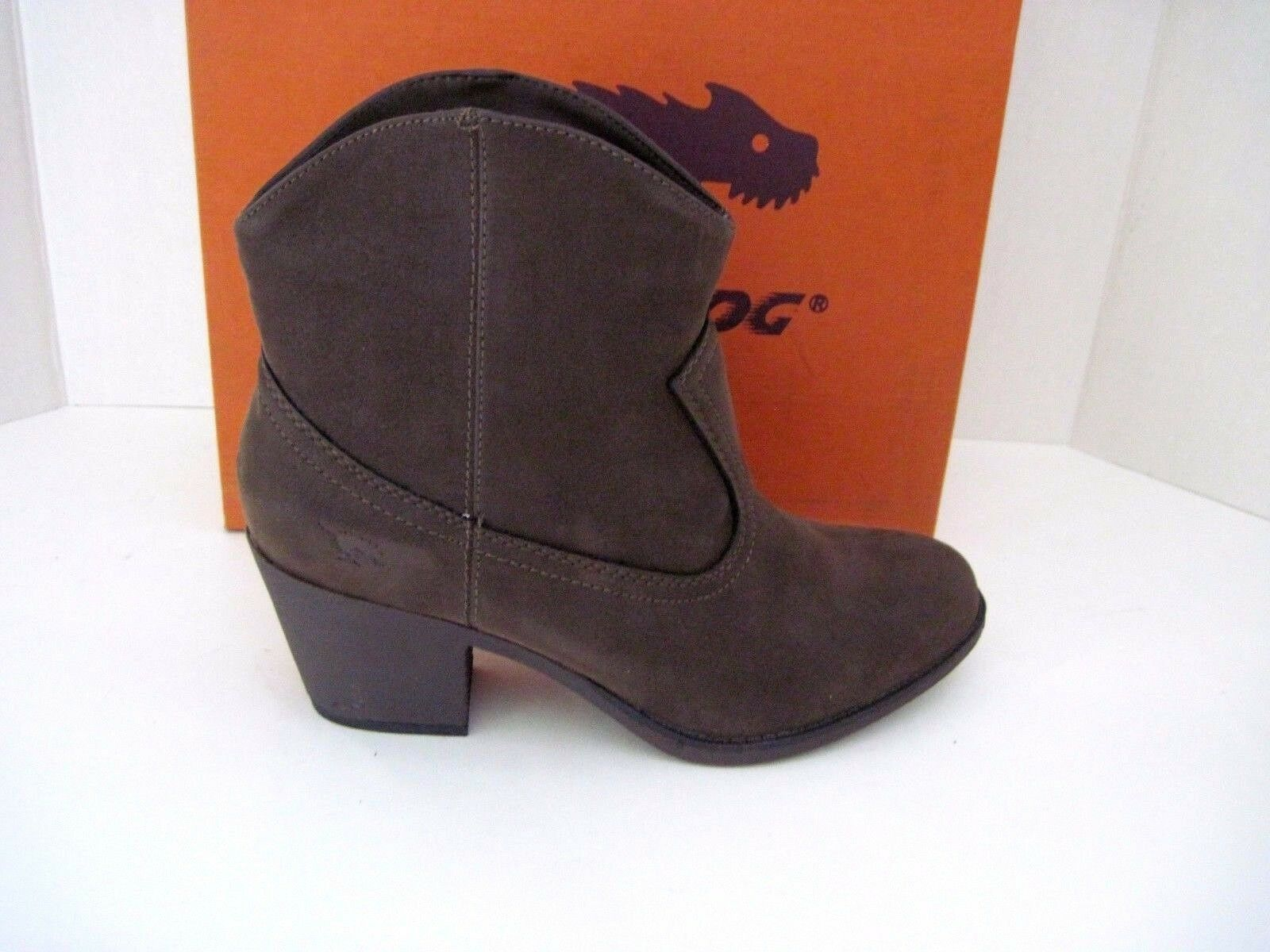 Rocket Dog Women's Soundoff Ankle Slip On Heeled Booties Boots, Brown  9 M, NEW
