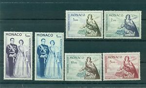 Monaco-1960-61-Y-amp-T-n-73-78-poste-aerienne-Sainte-Devote
