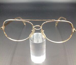 Bausch-amp-Lomb-B-amp-L-occhiale-vintage-1-30-10k-GO-oro-laminato-gold-frame-luxury