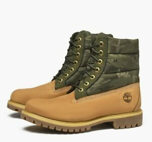 fab786e5e0c Details about Timberland Men's 6-Inch Premium Puffer Wheat/Camo Boots A1ZRH  [ALL-SIZES] NEW!