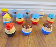 Vintage Little Tykes Chunky People Toddle Tots Lot of 11 Fireman Mailman