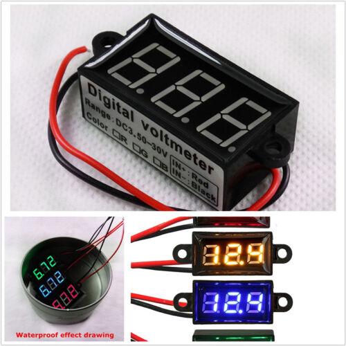 DC3.5VCar Waterproof Digital Panel Voltmeter Waterproof Dustproof 1s//time Update