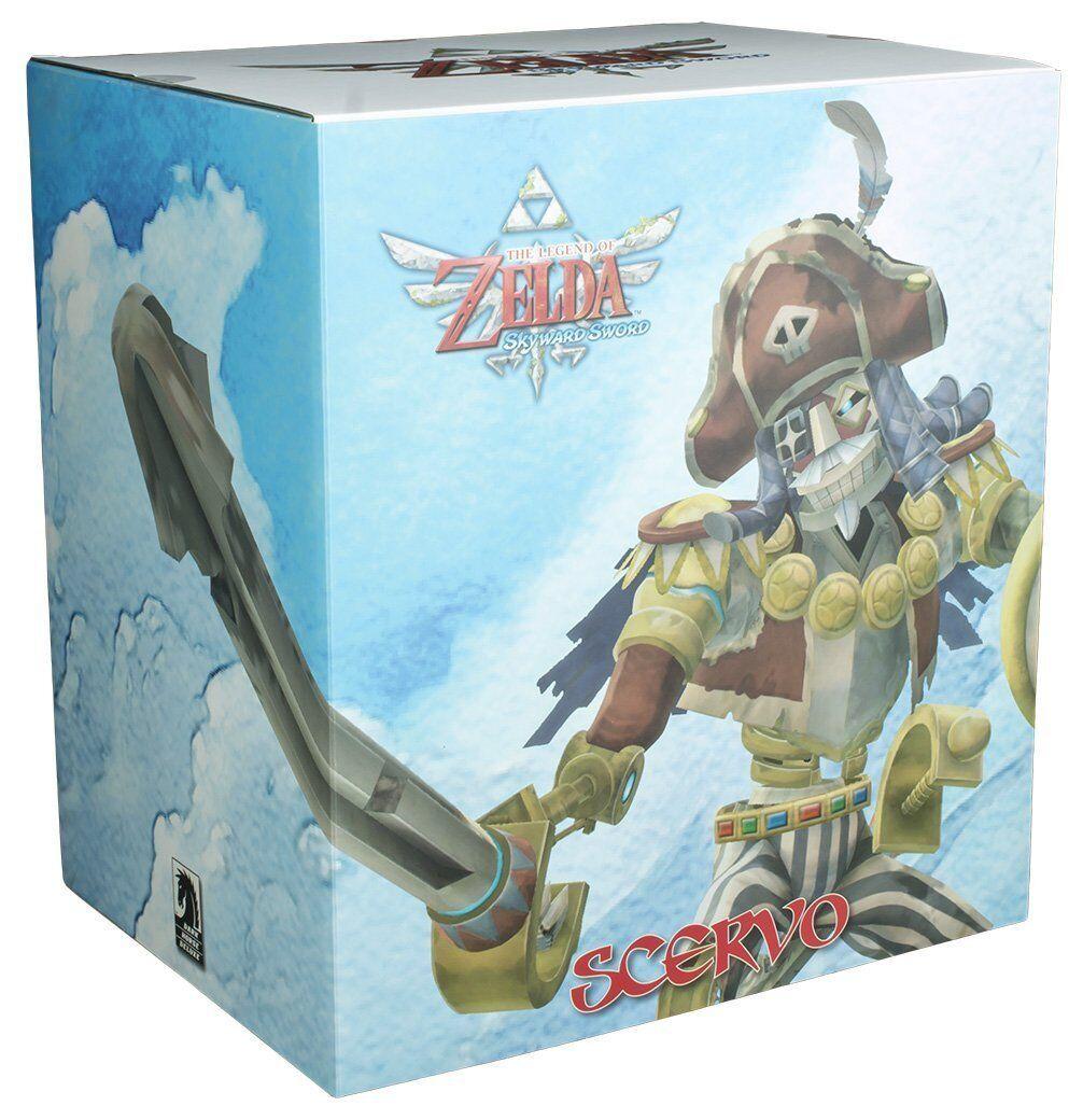Insieme + La leggenda di Zelda Skyward Sword scervo Statua  & Nuovo di zecca ufficiale
