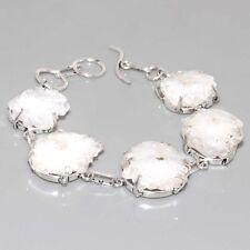 "G13261  Agate Geode Slice & 925 Silver Overlay Bracelet 8.2"" Jewelry"