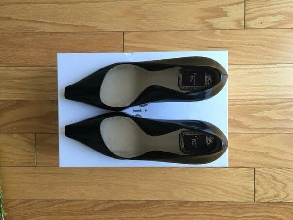 Christian Dior Patent Leather Black Songe Pumps size US 8.5, 8.5, 8.5, EU 39 c26454