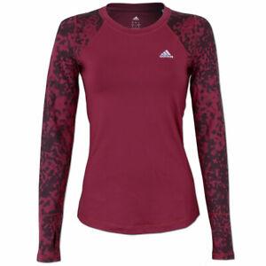 cf3b135690c75c Das Bild wird geladen adidas-Damen-Techfit-ClimaWarm-Crew-Langarm-Shirt- Running-