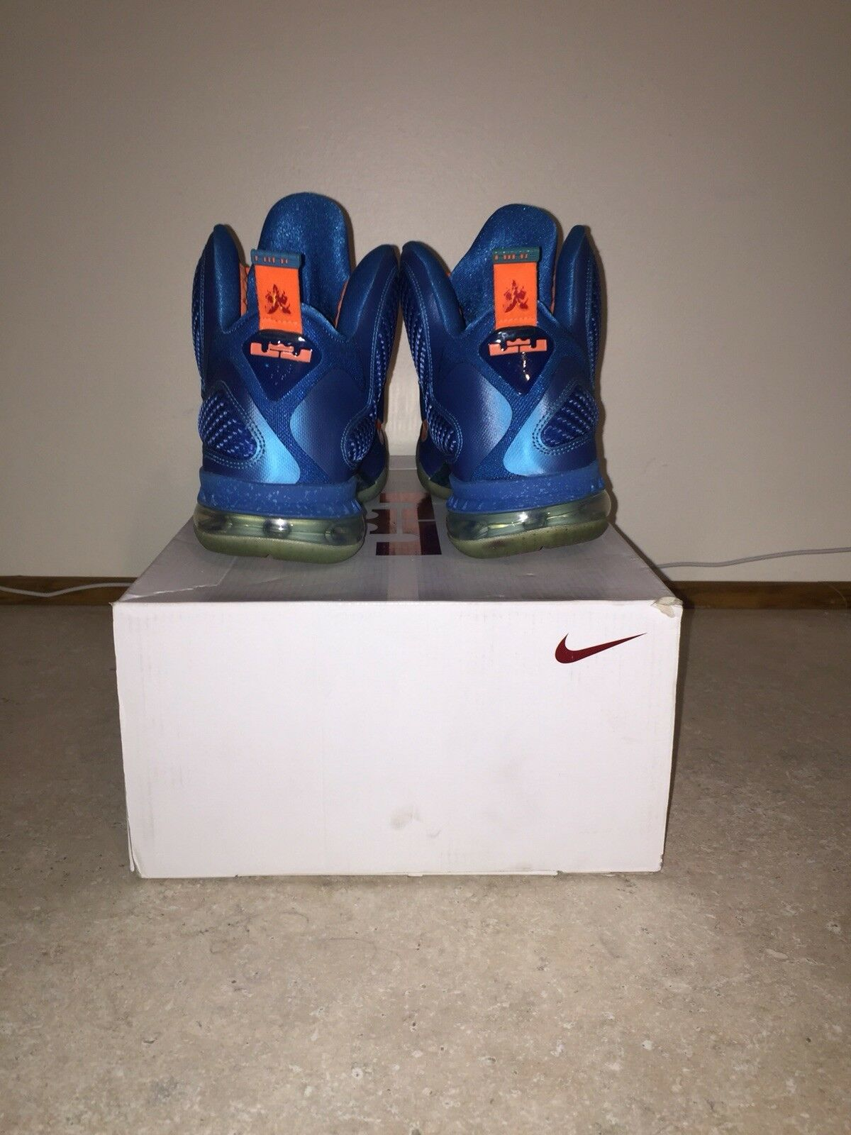 competitive price 1f580 61190 ... NIKE LEBRON 9 IX CHINA DRAGON NEPTUNE BLUE ORANGE 469764-800 469764-800  469764 ...
