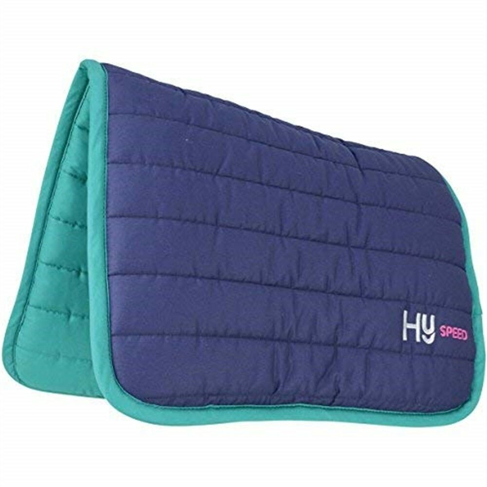 Hyspeed Reversible Two Colour Saddle Pad - Navy teal - One Size