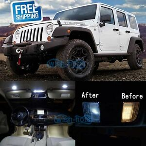 Details About White Led Lights Interior Package Kit For 2007 2015 Jeep Wrangler