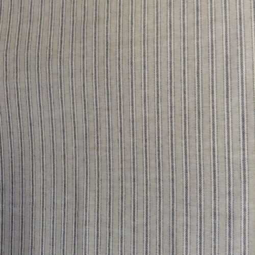 "Yale Ticking Stripe Charcoal Grey /& Linen 280cm//108/"" Wide Curtain Fabric"