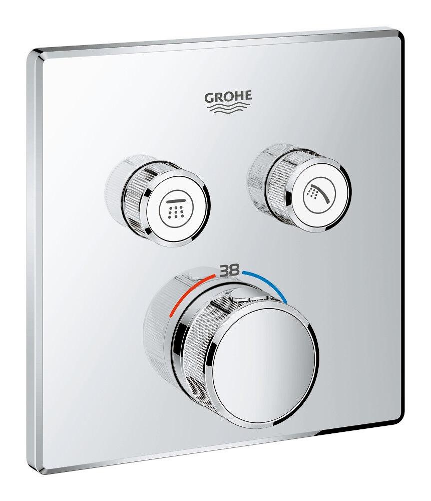 Unterputz Duschsystem mit Kopfbrause 300 300 300 x 300, Grohe Grohtherm SmartControl Set e4f5b6