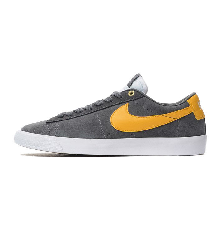 Nike BLAZER LOW GT Dark Grey University Gold White Discounted Price reduction Men's Shoes Special limited time