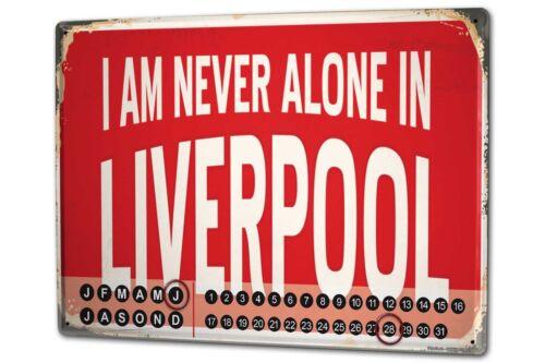 Dauer Wand Kalender Retro Metropole  Liverpool England Metall Magnet