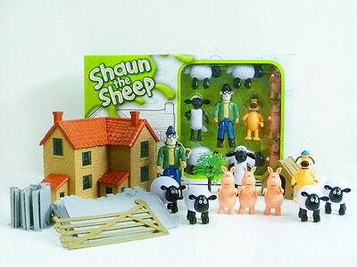 SHAUN THE SHEEP ACTION FIGURES KID CHILD DISPLAY FIGURINES TOY CAKE TOPPER DECOR