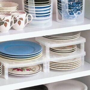 Dish-Organizer-Home-Kueche-Bad-Kunststoff-Rack-Abtropfflaeche-Regal-Halter-O1S9