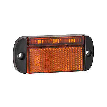 Led Auto-lamps Trailer Side Marker Light Lamp Amber Orange 12//24 Volt Reflector