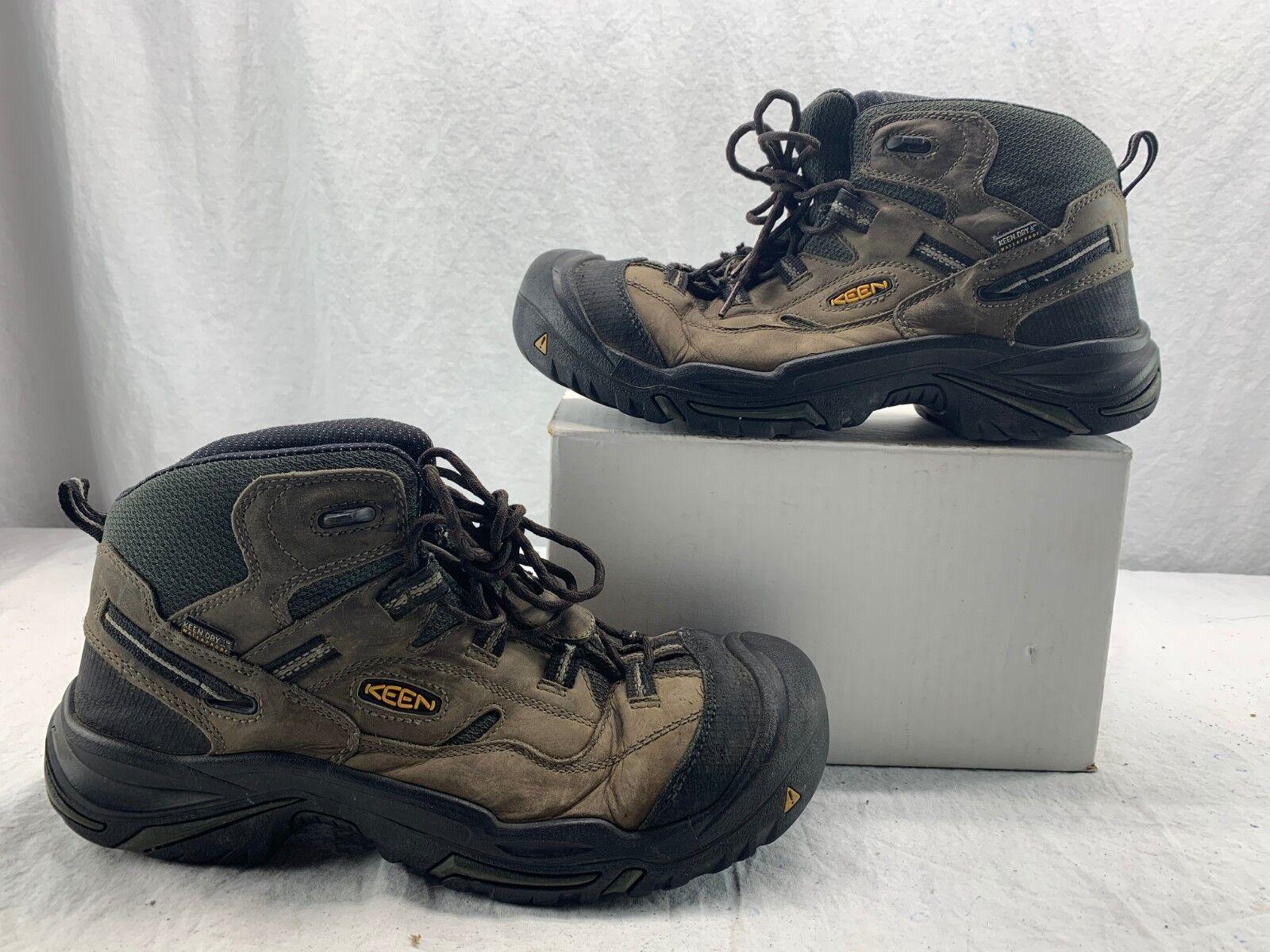 KEEN Utility 1011243 Mens Braddock Mid Steel Toe Stiefel Gargoyle Forest 11.5 D
