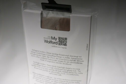 Wolford ~ CAMOUFLAGE ~ knee high socks BNWT nude /& silver ~ Small ~ 20 denier