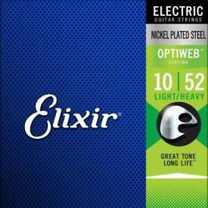 Elixir Optiweb E-Gitarre Light Heavy 10-52 Saiten Satz Guitar Strings Set 19077
