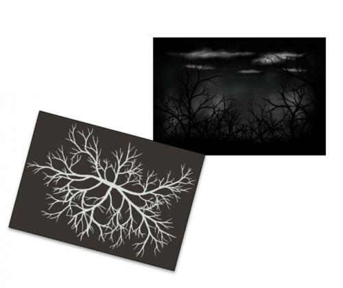 Single Step Stencil AS-220 Trees ~ UMR Airbrush Stencil