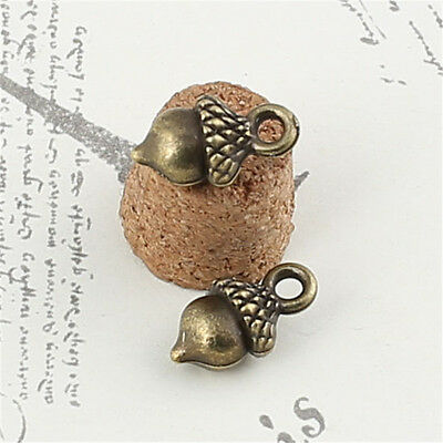 DIY Antique Bronze Vintage Alloy Acorn Pendant Charms 13*8cm 100PCS`